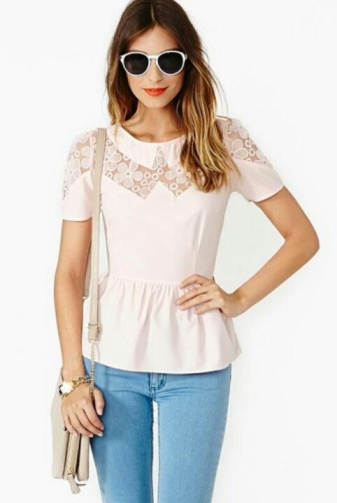 Another take on the lace yoke/sleeves.  No idea where this one's from... People on Pinterest aren't great with linking to the original source.