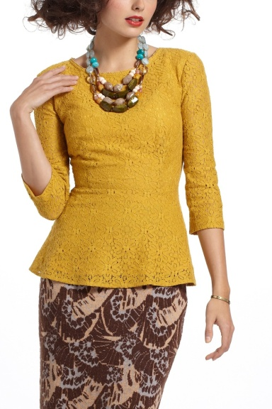 I have a thing for mustard, and lace... (Anthropologie)